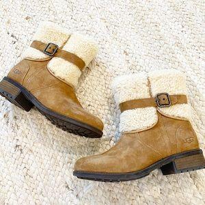 New Ugg Blayre II Sherpa Buckle Boots